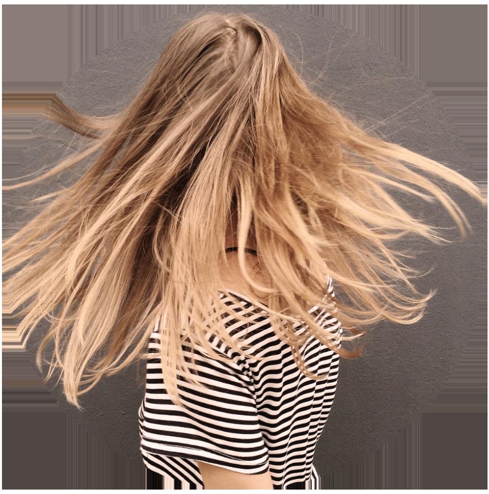 Bild på kvinnas hår Hårmineralanalys