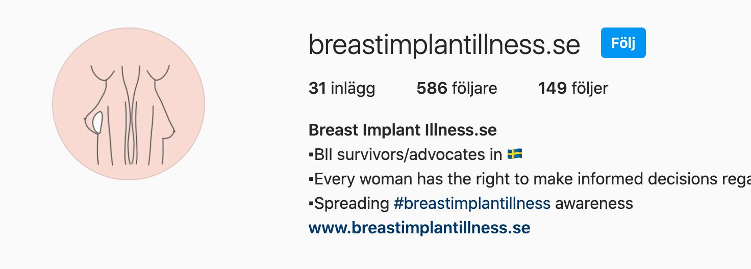 Breastimplantillness.se instagramkonto